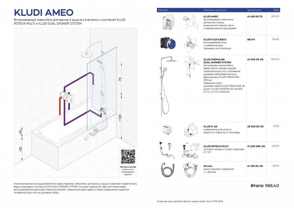 Пошаговая инструкция по установке смесителя в ванной комнате на стену
