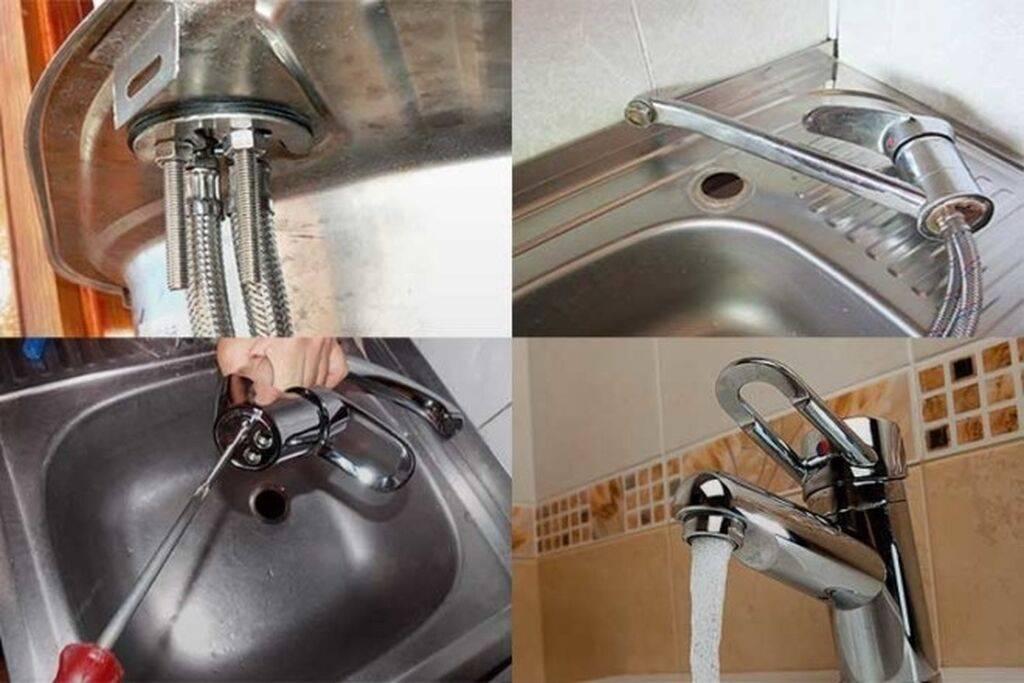 Установка смесителя на раковину своими руками - инструкция