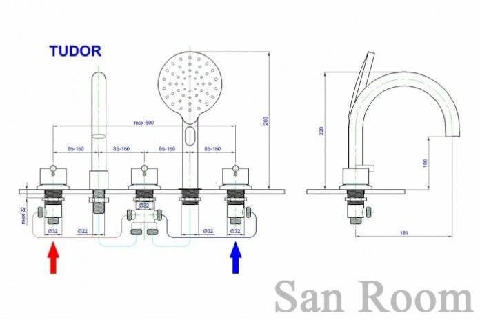 Установка смесителя в ванну: крепление на борт, как установить и можно ли поставить кран с душем на перелив своими руками