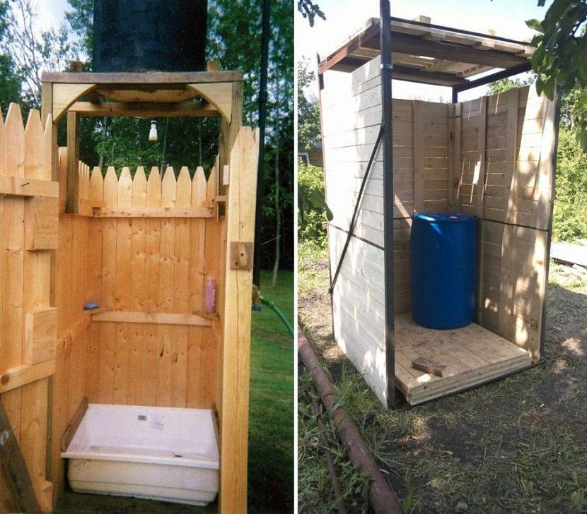 Летний душ на даче своими руками: пошаговая инструкция строительства и обустройства   (30 фото & видео)