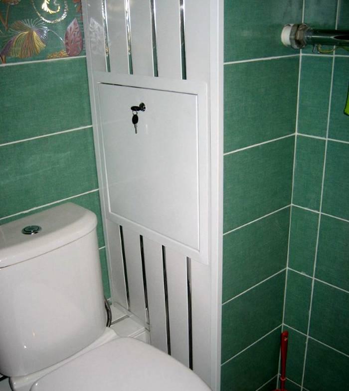 Как закрыть (спрятать) трубы в туалете — короб, жалюзи, шкафчик и другие варианты