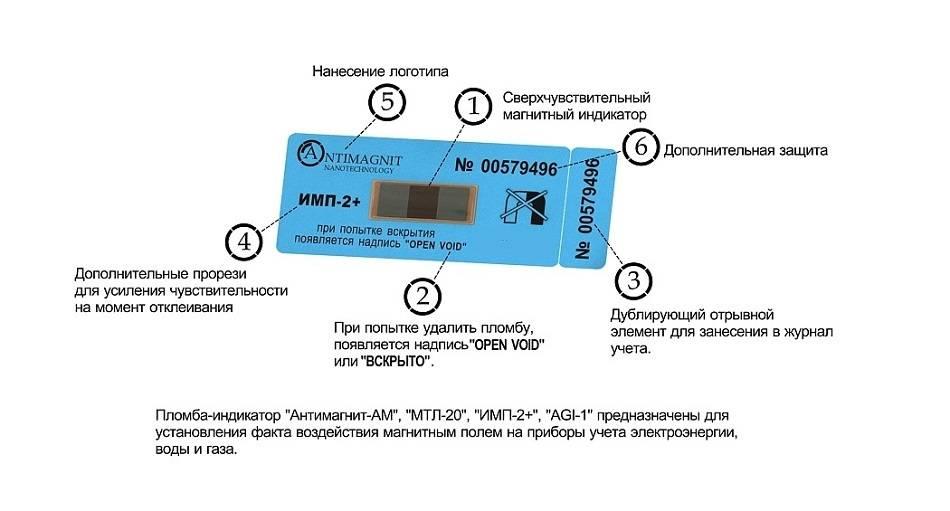 Антимагнитная пломба на электросчетчик: как выглядит и работает, виды
