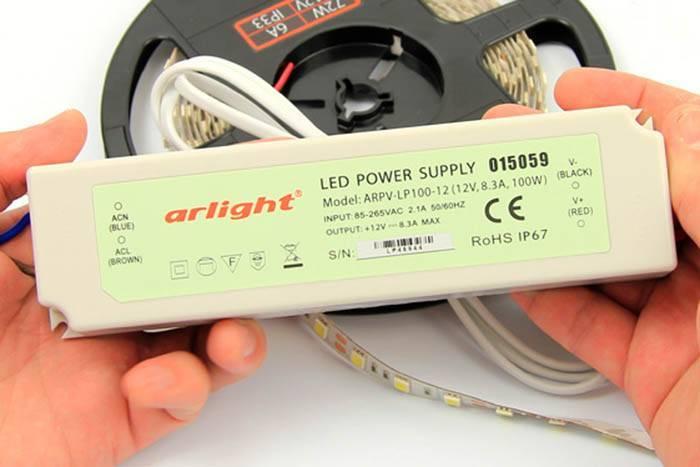 Как рассчитать блок питания для светодиодной ленты по её мощности, подбор бп