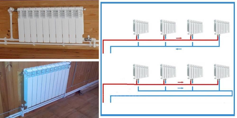 Схема подключения радиаторов отопления при однотрубной системе - всё об отоплении и кондиционировании