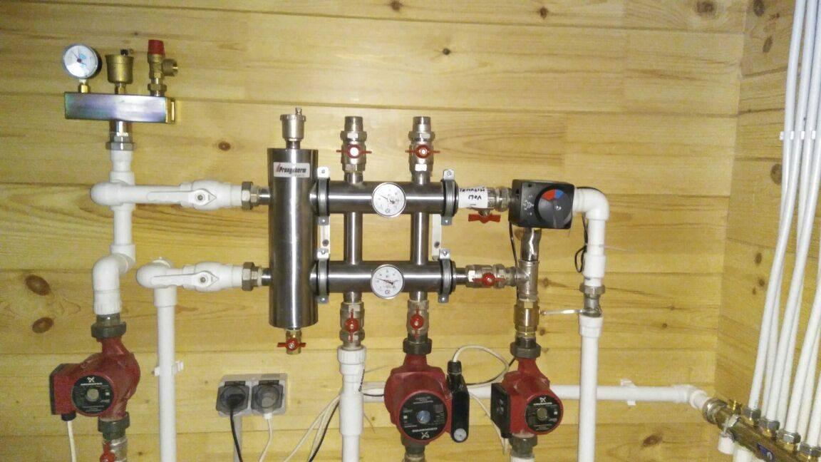 Распределительный коллектор гребенка системы отопления - принцип работы, устройства и монтажа