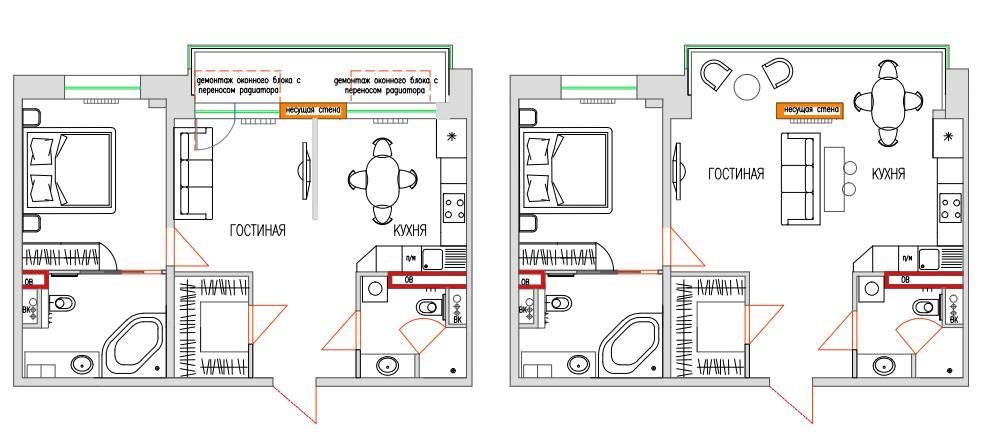 Можно ли объединить комнату с балконом, не нарушая закон