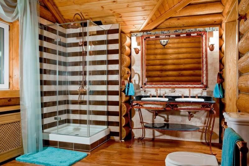 Душ в деревянном доме: гидроизоляция стен, пола