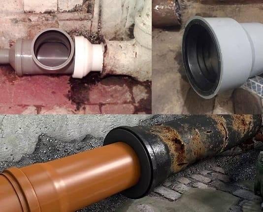 Как соединить канализационные пластиковые трубы - способы