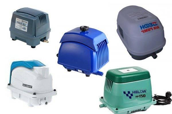 Воздушный компрессор для септика: виды