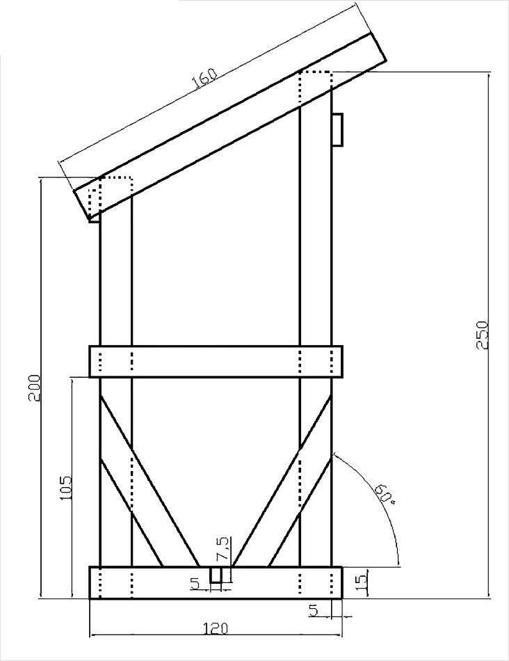 Чертежи и примеры дачного туалета типа шалаш: схемы и строительство - точка j