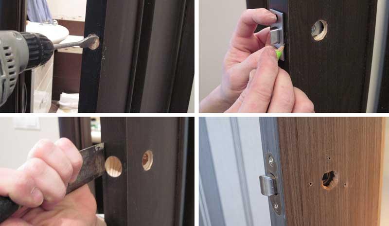 Как врезать замок в межкомнатную дверь своими руками: инструкция по установке