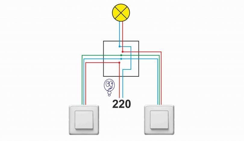 Можно ли проходной выключатель подключить как обычный