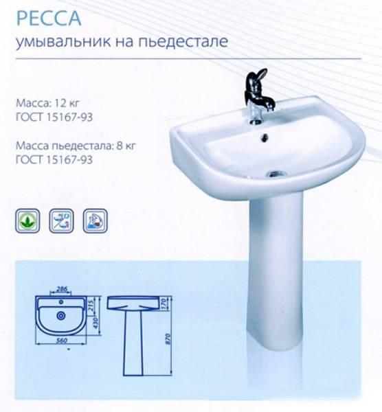 Установка раковины с тумбой в ванной комнате
