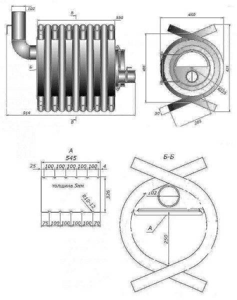 Печь булерьян своими руками - чертежи, схемы, фото | стройсоветы