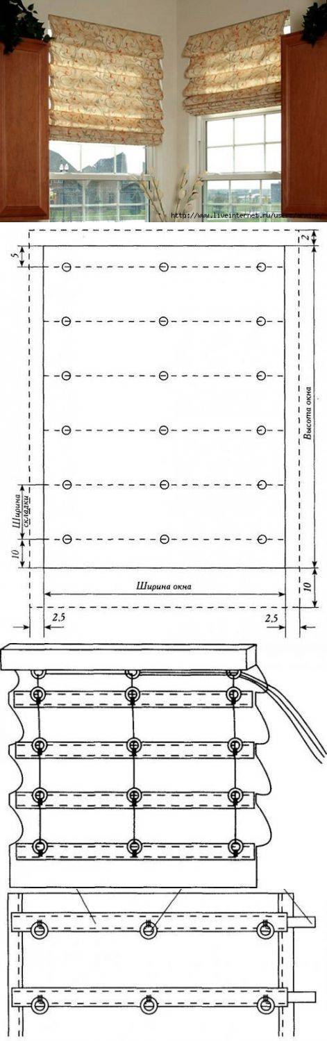Как сделать рулонные шторы - от выбора комплектующих до изготовления. пошаговая инструкция по изготовлению рулонных штор с боковым шнуром, с лентой-подвязкой