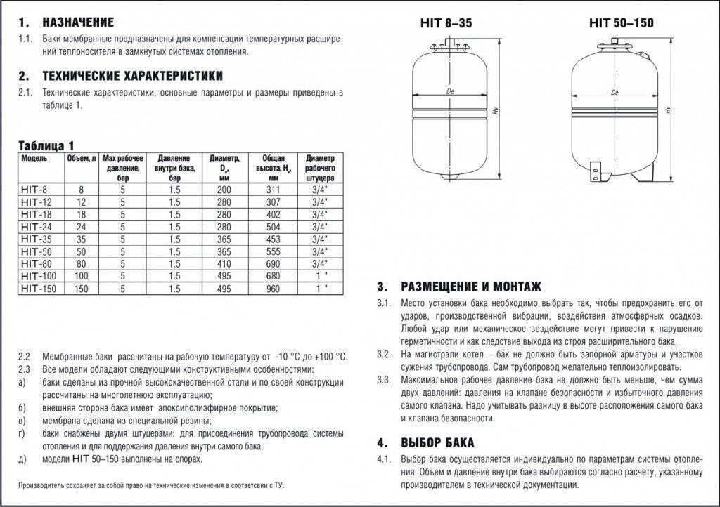 Давление расширительного бака в закрытой системе отопления - всё об отоплении
