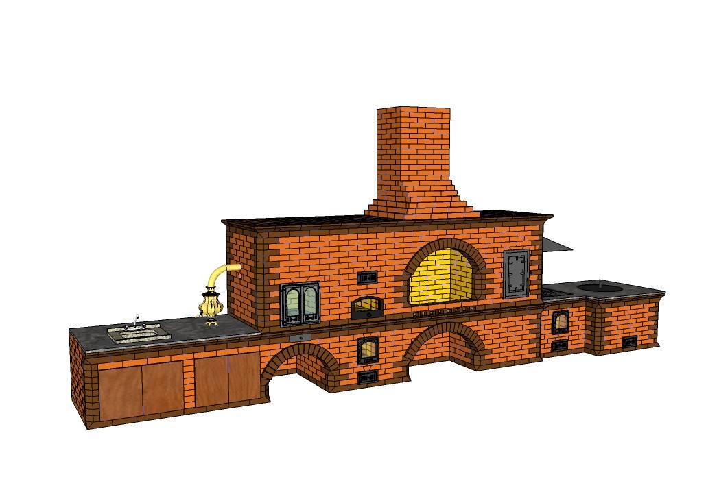 Барбекю из кирпича своими руками: схемы, чертежи, фото, размеры. обзор простых и сложных конструкций на дачном участке!