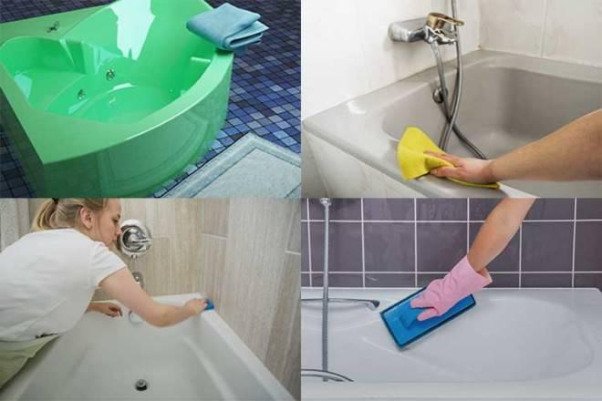Как и чем чистить акриловую ванну в домашних условиях — видео и фото