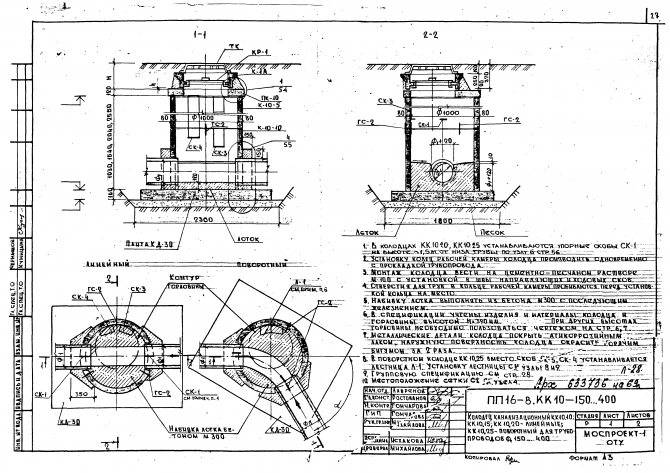 Смотровой колодец для канализации: устройство, назначение, виды