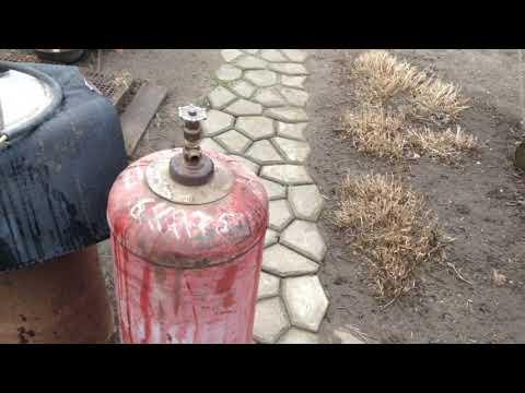 Правильно и безопасно разрезаем старый газовый баллон