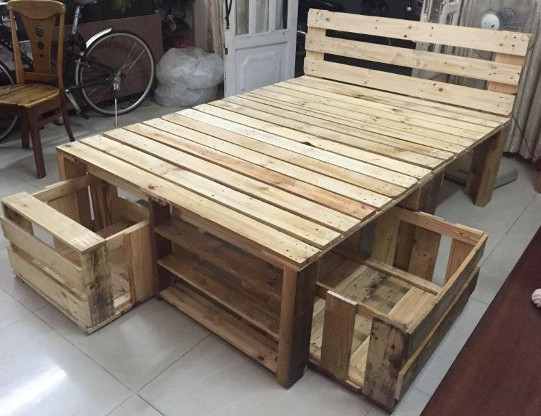 Мебель из поддонов — идеи для дома и сада, технологии изготовления