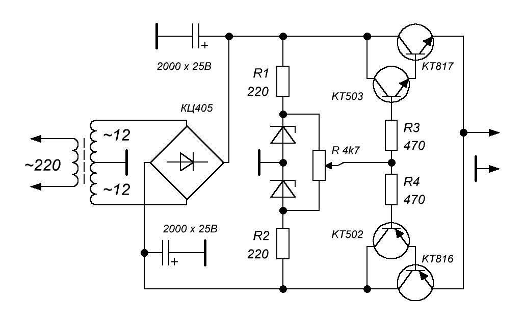 Схема стабилизатора напряжения 220в для дома, принцип работы, монтаж