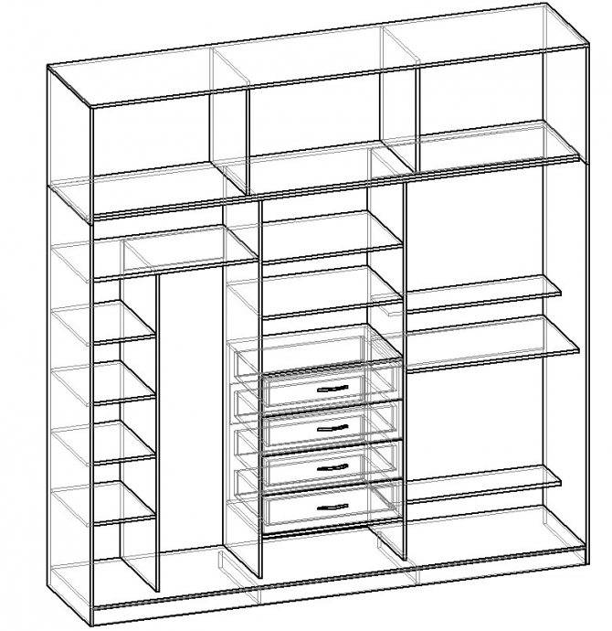 Как сделать шкаф своими руками: 115 фото, чертежей и лучших современных проектов