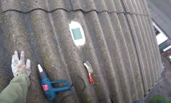 Как и чем заделывать трещины в шифере на крыше