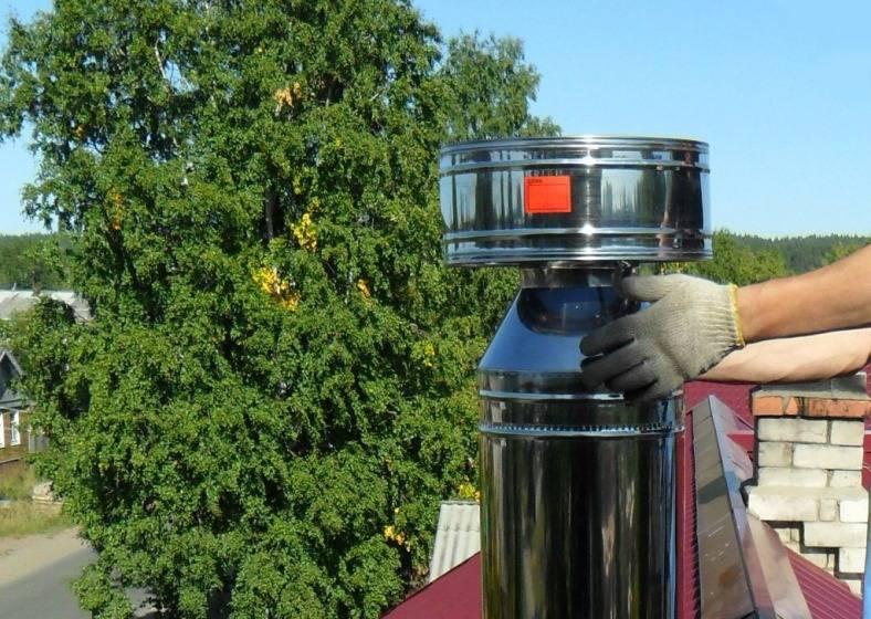 Н образный дефлектор на дымоход газового котла