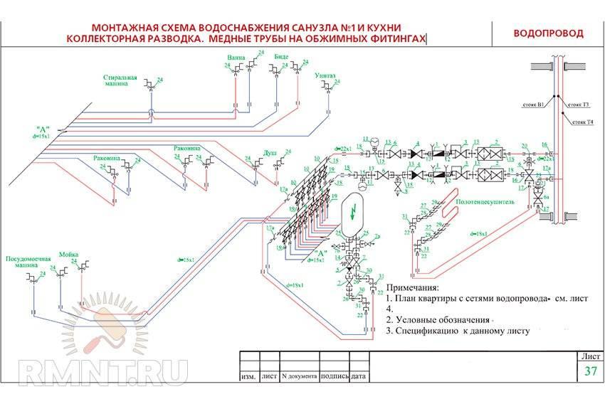 Монтаж водопровода из полипропиленовых труб: в квартире и частном доме