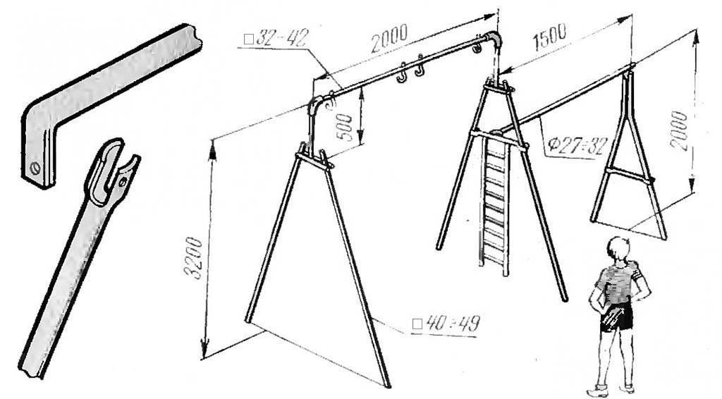 Как изготовить качели своими руками: особенности конструкции, пошаговые инструкции (чертежи с размерами) | (100 фото & видео)