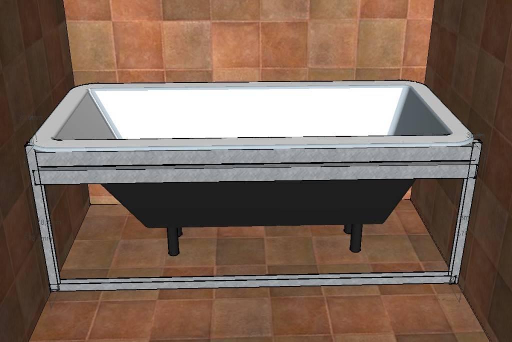 Выбираем каркас для акриловой ванны: сделать самому или приобрести готовый. как установить акриловую ванну?