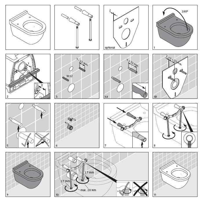 Установка подвесного унитаза: видео-инструкция по монтажу своими руками, устройство, высота с инсталляцией, фото