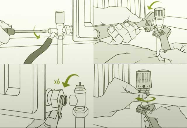 Установка терморегулятора на радиатор отопления своими руками