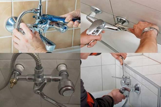 Установка смесителя в ванной своими руками: инструкция и видео для устройства смесителя, советы специалистов