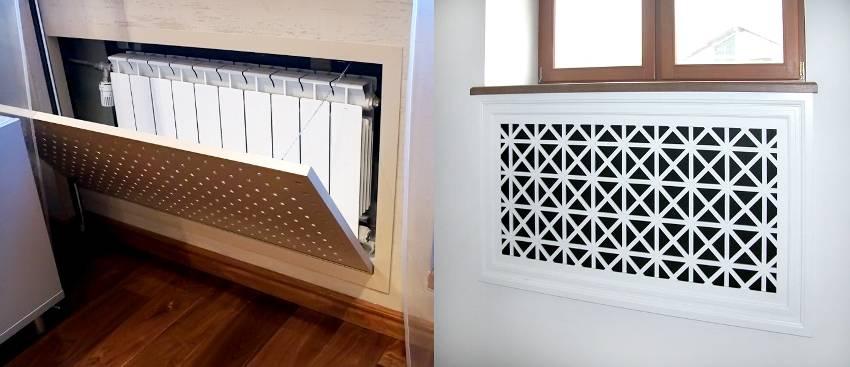 Чем закрыть батарею отопления: как спрятать радиатор