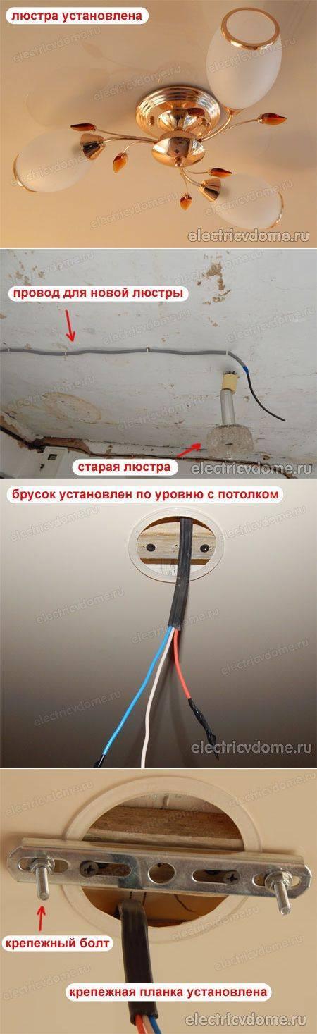 Установка люстры своими руками - ремонт и стройка