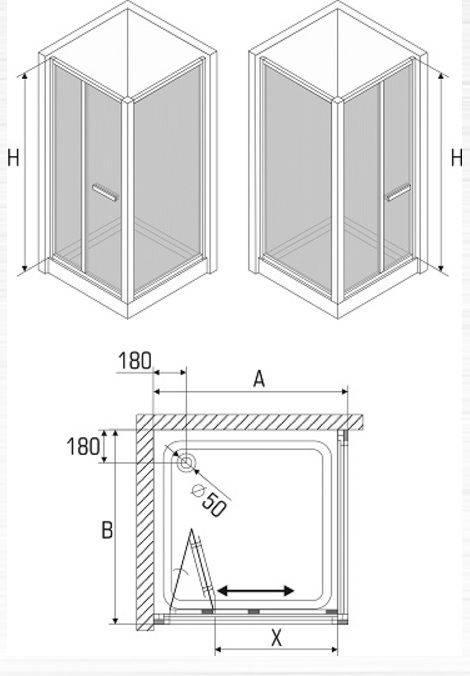 Размеры душевых кабин - стандартные размеры, цены, фото