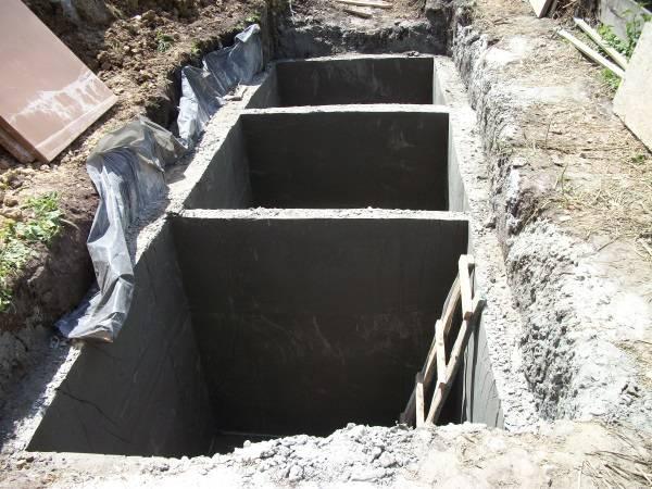 Как сделать септик из бетона своими руками