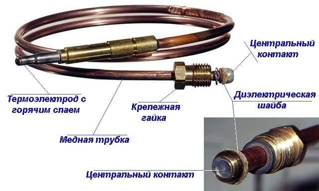 Ремонт термопары газовой колонки своими руками