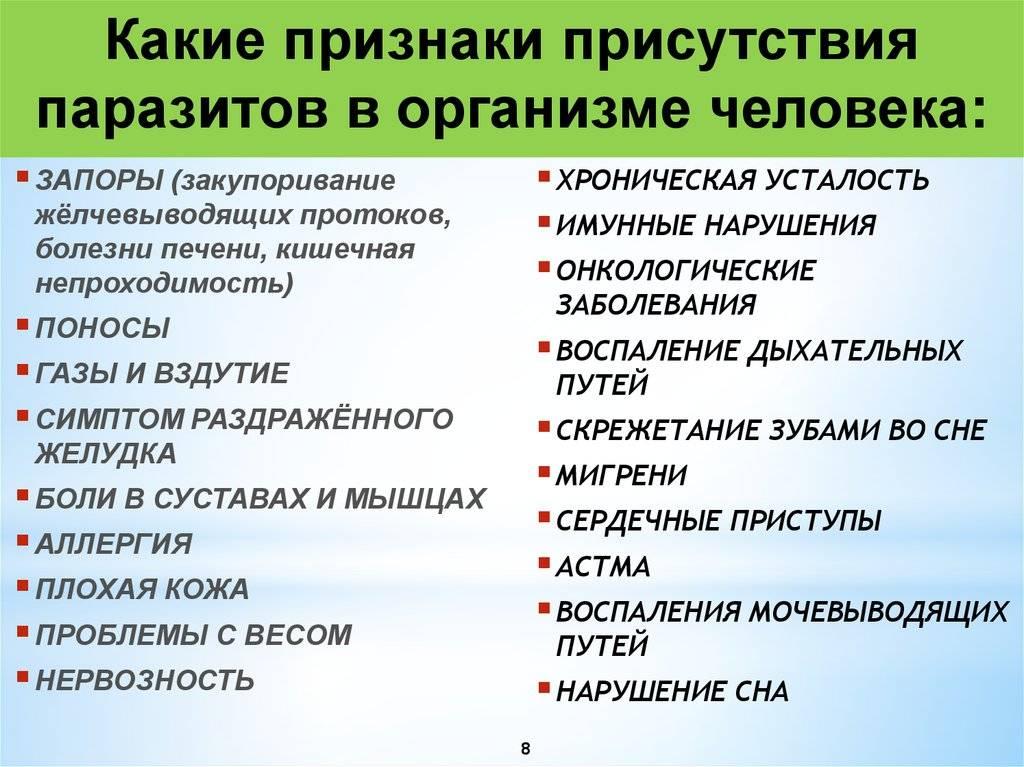 Глисты (гельминты): лечение, признаки и профилактика гельминтоза