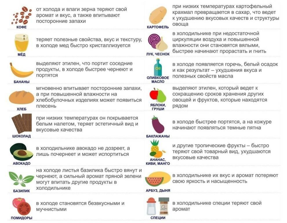 Правила хранения продуктов в холодильнике - четыре вкуса - медиаплатформа миртесен