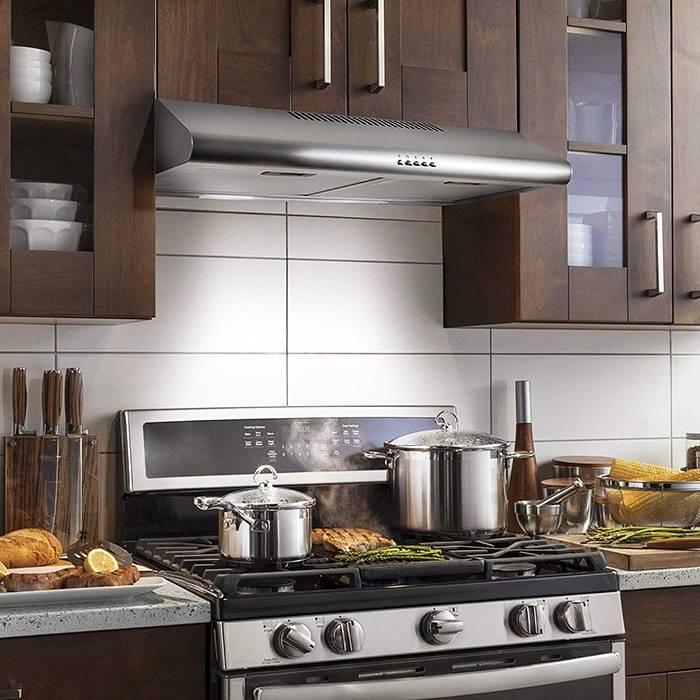 Как выбрать вытяжку для кухни над плитой — подбор по параметрам | блог miele.ru