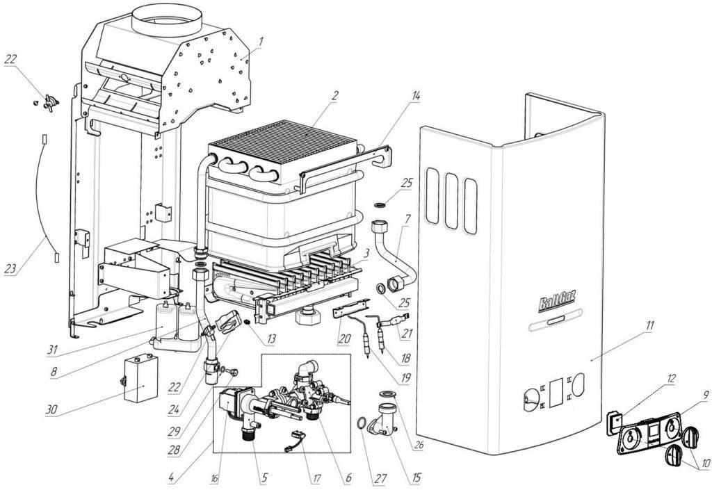 Устройство и принцип работы газовой колонки: схема основных узлов