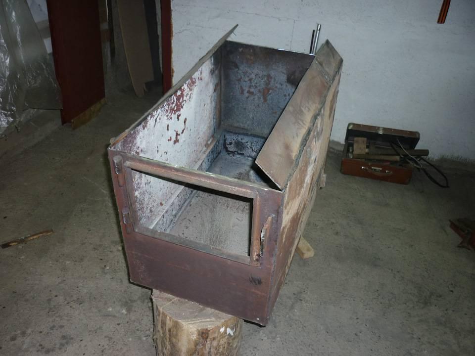Печь для гаража своими руками из подручных материалов + фото
