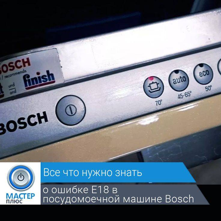 Советы по ремонту посудомоечных машин bosch — расшифровка кодов ошибок
