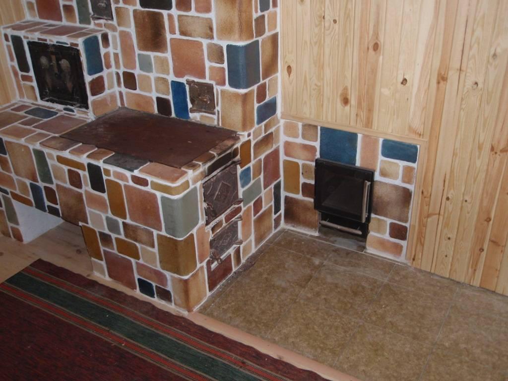 Облицовка печи керамической плиткой – пошаговая инструкция