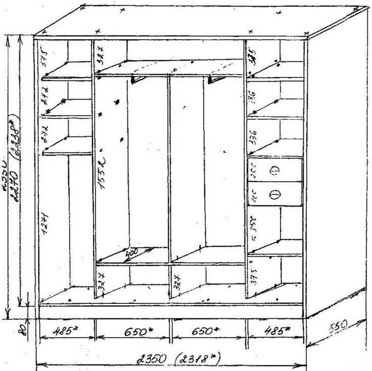 Поэтапное изготовление шкафа-кровати своими руками, идеи для декора