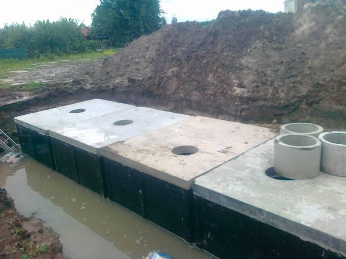 Монолитный бетонный септик для дачи своими руками: устройство септика из бетона