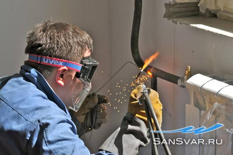 Замена батарей отопления газосваркой: обзор технологии проведения работ - малярно штукатурные работы, ремонтов фасадов, работы по благоустройству (валка, обрезка деревьев) в санкт петербурге и области